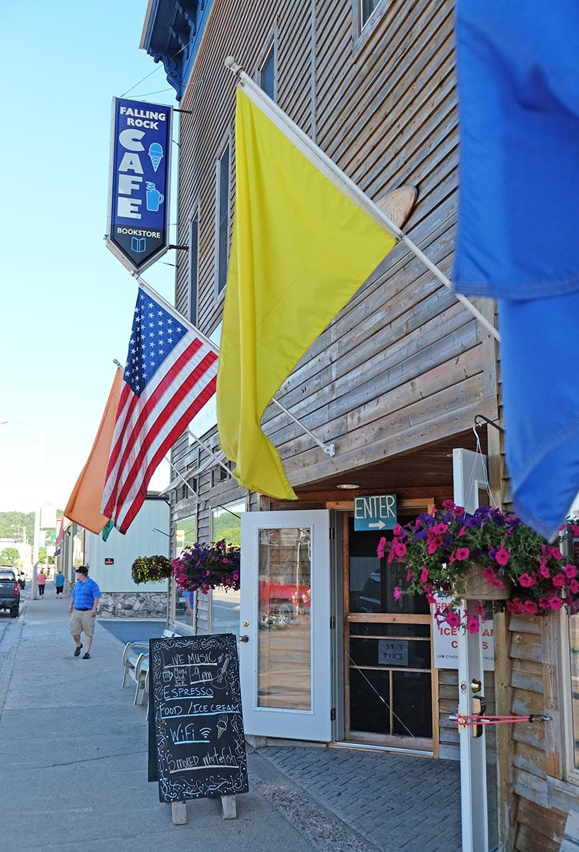 falling rock cafe upper peninsula coffee shop for sale munising